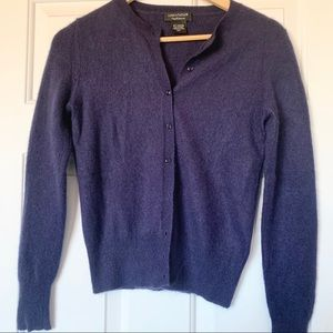Dark blue cashmere cardigan